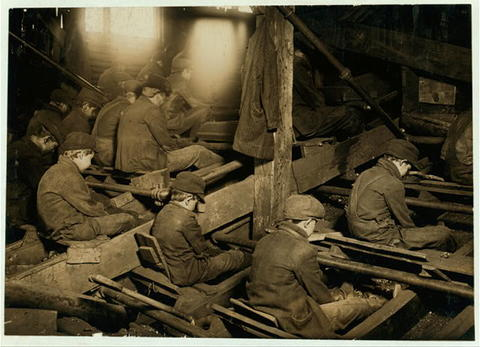 """Lewis Hine, """"A View of the Pennsylvania Breaker,"""" 1911."""