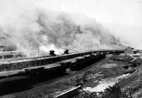 Coke Ovens in Blast at Stonega Colliery. A coke oven or furnace is a brick structure where coal is burned to make coke, a purer carbon fuel used for smelting iron and other industrial purposes.