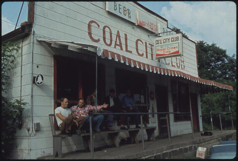 Jack Corn - Coal City Club in Coal City, West Virginia, a Part of Beckley All of the Men Are Coal Miners, 1974