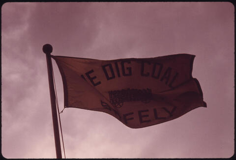 Jack Corn - Company Flag in Front of the Headquarters of the Virginia-Pocahontas Coal Company, 1974