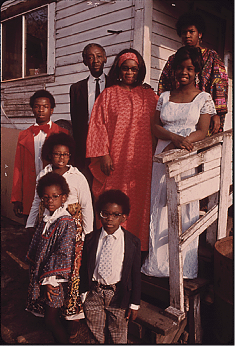 Photograph of a West Virginia Coal Mining Family, 1974