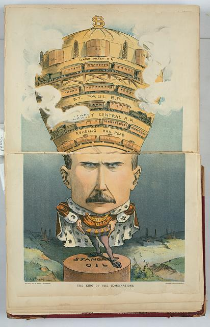 """The King of Combinations"" published in Puck magazine, 1901"