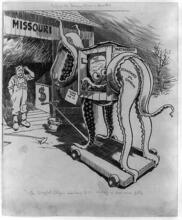 """""""Before the Trojan horse is admitted the puzzled citizen will have to be shown a little more fully"""" Chicago Daily News,1909."""
