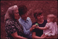 Jack Corn - Three Generations of Coal Mine Wives and a Baby, All Residents of Cumberland, Kentucky, 1974