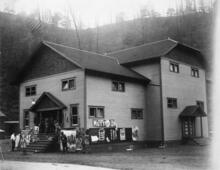 Stonega Amusement Hall, 1920. In company towns, the amusement hall operated as a community center for workers and their families.