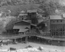 Stonega Tipple, 1920. The tipple is a mining facility used to load mined coal into a rail car or other transportation.