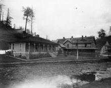 View of houses at Stonega, 1915. Coal companies often provided company-owned houses for workers and their families.